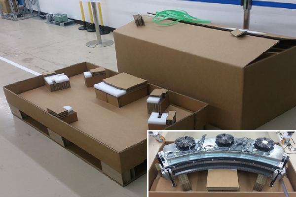 梱包箱の軽量化と保管効率を改善