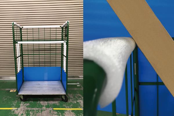 緩衝材を使用し、製品破損率改善