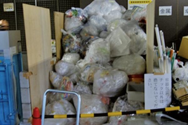 保管庫にあふれるゴミを1/4に削減