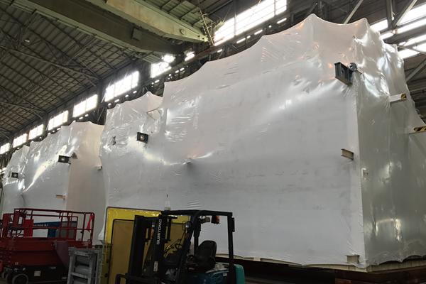 大型プラント海外輸送時の保護包装