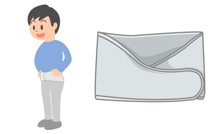 アシストスーツ・腰痛ベルトを付ける