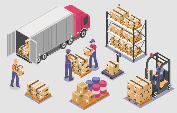 工場・倉庫への商品の入出荷作業の負担軽減